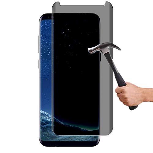 Lapinette de vidrio templado compatible con Samsung Galaxy S8 anti espía – Protector de pantalla de vidrio templado para Samsung Galaxy S8 anti espía – Filtro de privacidad de vidrio templado