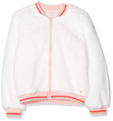 ESPRIT KIDS Mädchen RP1704309 Sweatshirt Card Strickjacke, Weiß (Off White 110), (Herstellergröße: 116+)