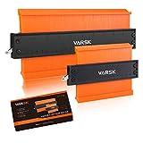Contour Gauge with Lock, VARSK 2 Pack Widen Shape Duplicator Profile Tool 5' & 10', Master Outline Measuring...