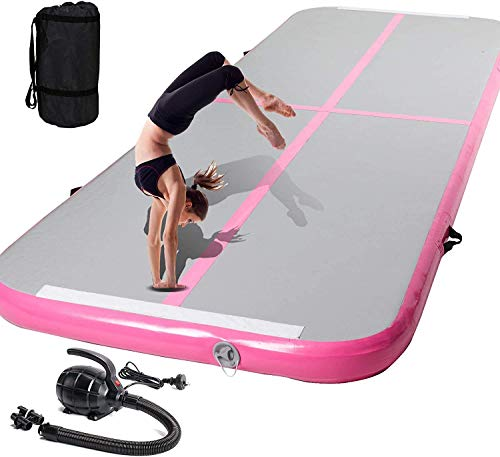 10ft/13ft Inflatable Gymnastics Training Mat,Air Track Tumble Mat 4 inches Thickness Airtrack Floor Mat With Electric Air Pump for Home/Gym/Yoga/Kungfu/Cheerleading Training