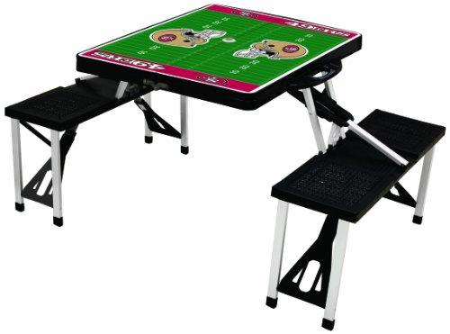 PICNIC TIME NFL San Francisco 49ers Football Field Design tragbar Klapptisch/Sitze, schwarz