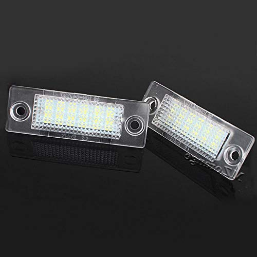 Boomboost 2pcs 18 LED 3528 SMD Número de matrícula Lámpara de luz Car Styling para V/W Touran Caddy 3 Golf 5 Plus Jetta 5 Passat B5.5 B6 Sedan