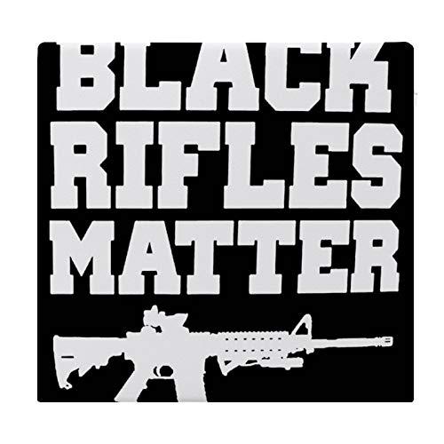Cojín Cojín de Asiento de Espuma viscoelástica Cuadrado Negro Rifles Matter Cojín súper Acogedor Cojín Suave para Interior