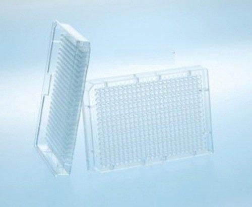 Greiner Bio-One 784900 Black Polystyrene Small Volume HiBase Non-Binding Microplate, Flat Bottom, 384 Well (Pack of 40)