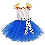 IBAKOM - Disfraz de Jessie Toy Story para bebé o niña, disfraz de Cowgirl de cumpleaños, Halloween, Navidad, fiesta, carnaval, cosplay, vestido de princesa multicolor 9-10 Años