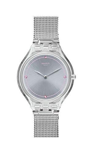 Swatch Reloj Analógico para Unisex Adultos de Cuarzo con Correa en Acero Inoxidable SVOK105M