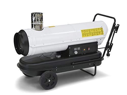 TROTEC Ölheizgebläse Heizkanone IDE 30 Ölheizer Ölbeheizung Heizer (30 kW Heizleistung) inkl. externes Thermostat