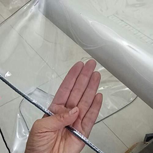 LHR Bâche imperméable et résistante en PVC transparent 450 g/m² avec œillets, 2×4m