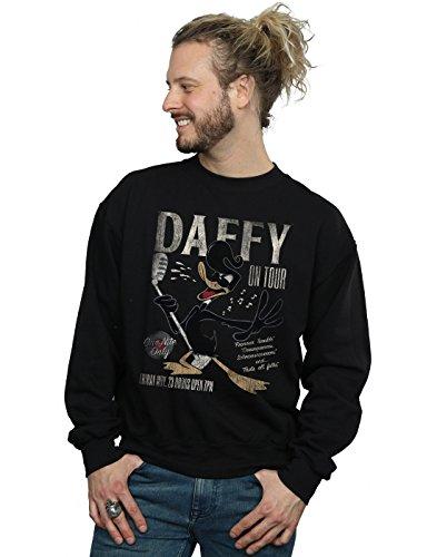 Absolute Cult Looney Tunes Herren Daffy Duck Concert Sweatshirt Schwarz Large
