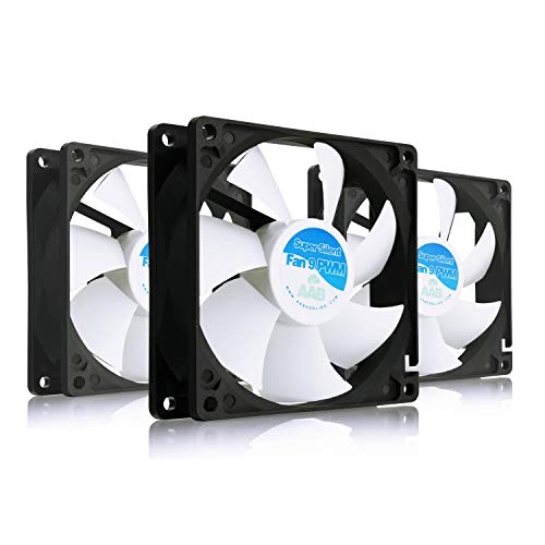 AABCOOLING Super Silent Fan 9 PWM - Silent and Efficient 92mm Fan with 4 Anti-vibration Pads | Quiet Fan | Silent Case Fan | CPU Cooler | Case Fan - Value Pack 3 Pieces