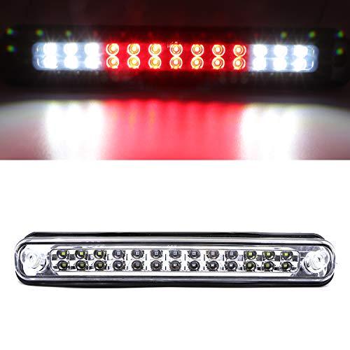 3rd Third Brake Light Lamp Center Hight Mount Stop Light Fits For 1988-2000 Chevrolet,GMC C2500/ C3500/ K2500/ K3500 (Clear)