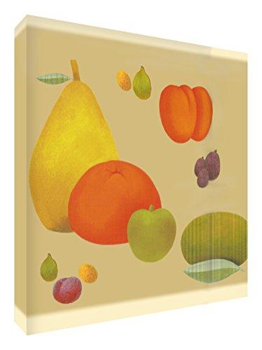 Feel Good Art Gallery - Cuadro de lona con panel frontal sólido (51 x 51 x 4 cm, grande, frutal)