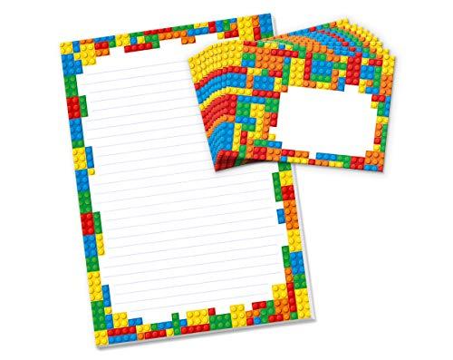 Briefblock mit Umschlag Lego für Kinder Briefpapier-Set (Block A4 mit 25 Blätter + 15 Umschläge)