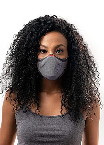 Máscara FIBER Knit Sport + Filtro de Proteção + Suporte (Cinza, M)