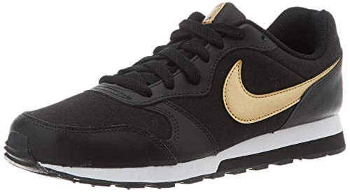 Nike MD Runner 2 VTB, Zapatillas de Trail Running para Mujer, Multicolor (Black/Metallic Gold/White 1), 35.5 EU