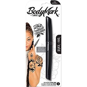 Bic BodyMark Temporary Tattoo Markers black 0.07 Fl Oz