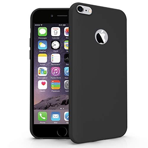 N NEWTOP Cover Compatibile per Apple iPhone 6 Plus/6S Plus, Custodia TPU Soft Gel Silicone Ultra Slim Sottile Flessibile Case Posteriore Protettiva (Nero)