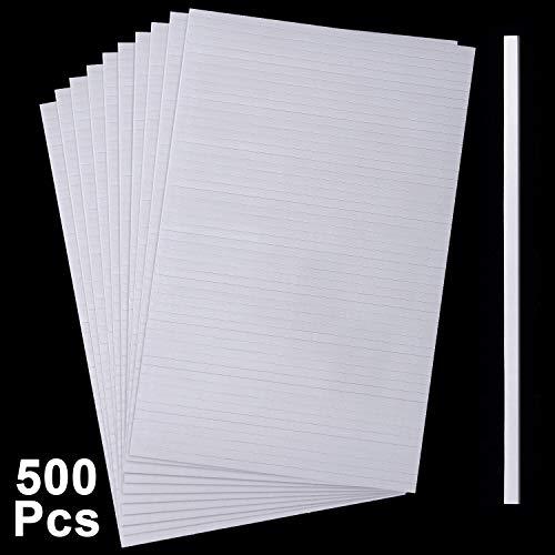 Doppelseitige Schaumstoff Klebestreifen Doppelt Klebende 3D Schaumstoff Klebebänder Schaumstoff Popstreifen Klebebefestigung für Scrapbooking oder Büro, 3,9 x 0,12 x 0,07 Zoll (500 Stücke)