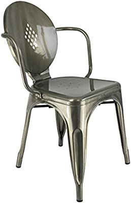 Chaise Privée Silla Estilo Antiguo Ghost - Gris Industrial
