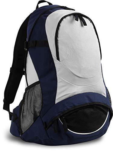 Trekking Sport Rucksack mit Rücken-Belüftungssystem und Mesh-Seitentaschen, 40 l, Farbe :Dunkelblau
