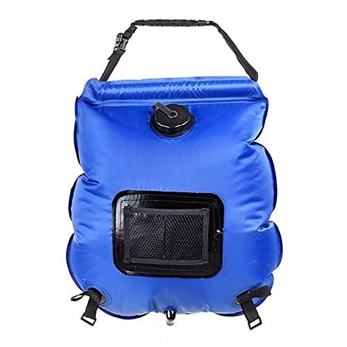GAO YUN Bolsa Solar De Ducha, 5 Galones/20 L Bolsa De Ducha para Acampar Al Aire Libre con Manguera Y Cabezal De Ducha Conmutable De Encendido/Apagado Adecuado para Escalada Y Natación Al Aire Libre