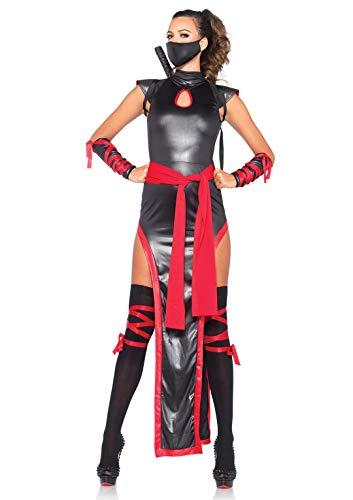 Leg Avenue- Mujer, Color negro y rojo, Large (EUR 42-44) (84166) , color/modelo surtido
