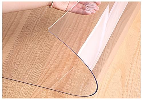 Manteles Rectangulares Transparentes, Mantel Protector de Mesa de PVC, Impermeable Protector De Cubierta De Mesa para mesas de Cocina, mesas de Comedor café (Color:3.0mm,Size: 100x100cm)