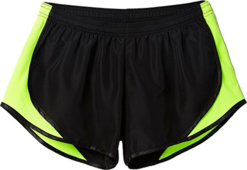 Soffe womens Team Shorty Shorts, Black/Solar Yellow/Black, Small US