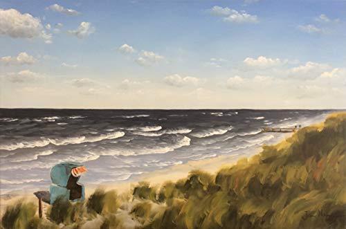 Kunstverlag Christoph Falk Strand mit Strandkorb 1 von Jan Hansen