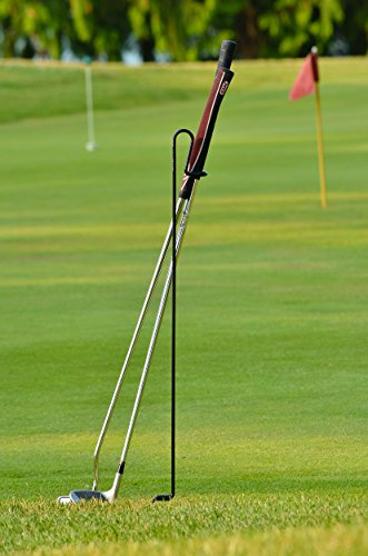 Stepkick Caddy by Bronwcyk - The World's Premier Golf Club Stand. Watch Video. (Black)