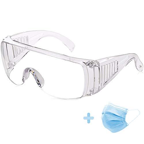 Schutzbrille Vollsichtbrille Überbrille für Brillenträger Arbeitsplatzbrille für Bau, Labor, Chemie, persönliche oder berufliche Zwecke