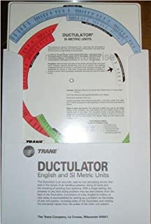 superbobi New Trane Ductulator Duct Sizing Calculator Slide Chart Graph With Sleeve