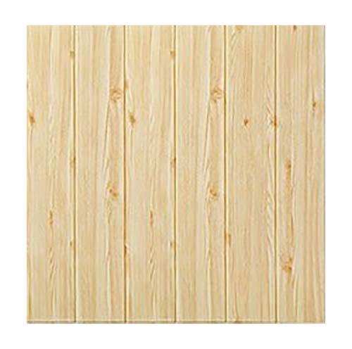 Fondo De Pantalla 3D Self-Peel Adhesivo Y Stick Azulejos Faux Espuma Paneles De Pared para Baño Cocina Sala De Estar Decoración del Hogar-Pino 10pcs