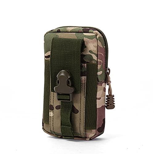 XIOFYA 1 bolsa de cintura de camuflaje militar para hombre, bolsa táctica Molle, para correr, militar, para viajes, camping, (color: 4)