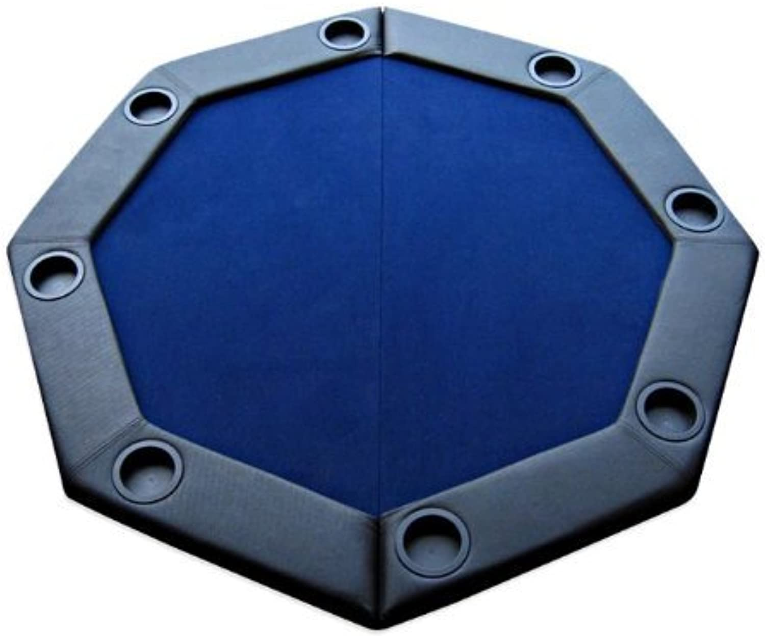 Padded Octagon Folding Poker Table Top with Cup Holders - Blau Farbe by JPC