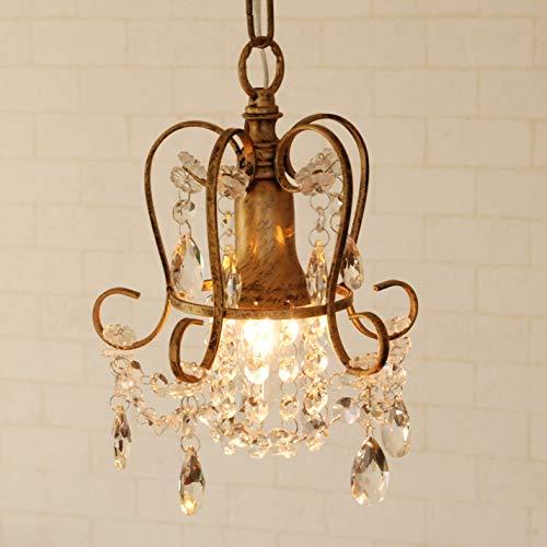 シャンデリア プチシャンデリア moca ブロンズ 1灯 アンティーク調 LED対応 ガラス ビーズ ミニシャンデリア