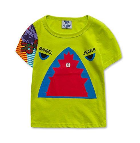 Tendance pour garçon Chemise spéciale T-shirt pour Cool Boy - Vert - Taille Unique