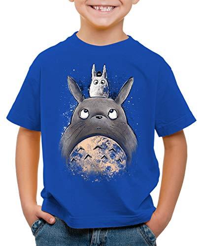 style3 Totoro Friends T-Shirt per Bambini e Ragazzi Mio Vicino Anime Tonari No nekobus, Colore:Blu, Dimensione:116