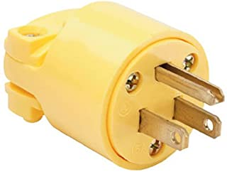 Pass & Seymour Yellow Legrand 4867YCC10 15-Amp Commercial Grade Heavy Duty Plug