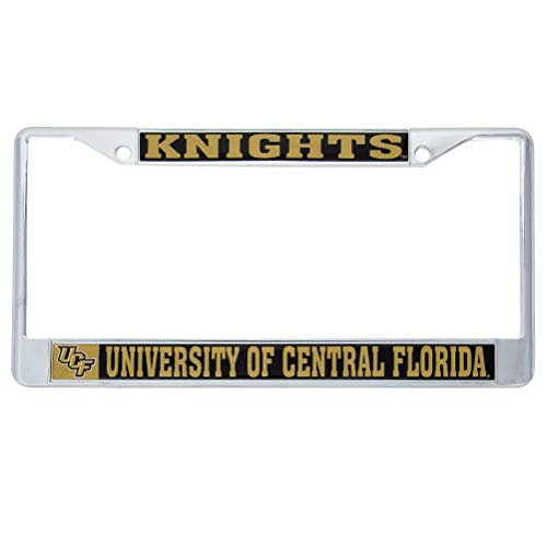 University of Central Florida UCF Knights Metal License Plate Frame for Front or Back of Car Officially Licensed (Mascot) C