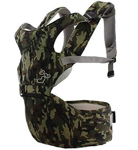 SCYMYBH Taburete de Cintura para bebé ergonómico Portador de bebé, Todo en 1 Asiento de Cadera bebé, con cinturón de Aire Transpirable Suave y Todas Las Hebillas Ajustables (Color : Camouflage)