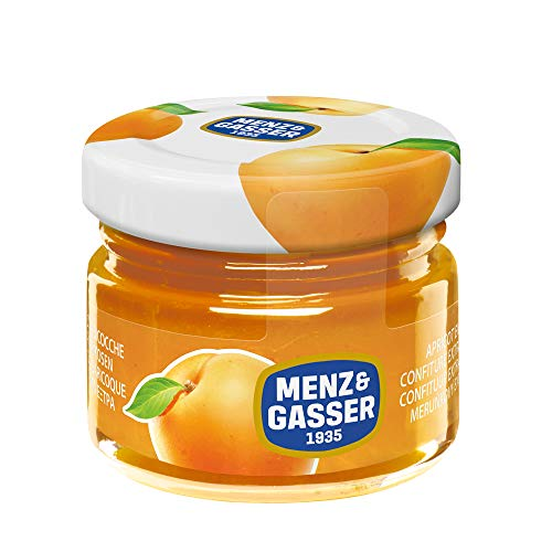 Menz&Gasser Confettura Extra Di Albicocche Monodose Premium Quality, Con Frutta Di Alta Qualità, 48 Vasetti x 28g