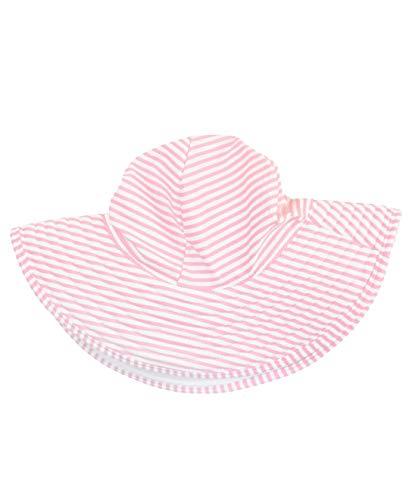 RuffleButts Girls Pink Striped Seersucker Swim Hat - 12m-2T