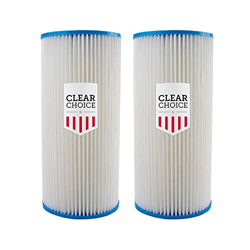 """Clear Choice Sediment Water Filter 30 Micron 10 x 4.50"""" Water Filter Cartridge Replacement 10 inch RO System 155101-43 R30-BB, WHKF-WHPLBB, 2-Pk"""