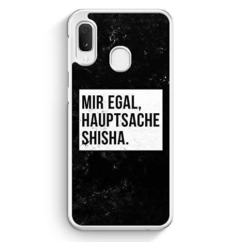 Mir Egal Hauptsache Shisha - Hülle für Samsung Galaxy A20e - Motiv Design Cool Witzig Lustig Spruch Zitat Grunge - Cover Hardcase Handyhülle Schutzhülle Case Schale
