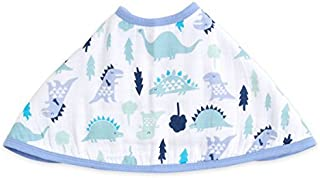 "aden by aden + anais Burpy Bib, 100% Cotton Muslin, Soft Absorbent 4 Layers, Multi-Use Burp Cloth and Bib, 22.5"" X 11"", Single, Dinos"
