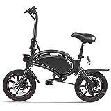 Bicicleta eléctrica 14 Pulgadas E-Bici eléctrica Plegable Festnjght del ciclomotor de la Bicicleta de la Ayuda del Poder de 65-70km de Rango máximo