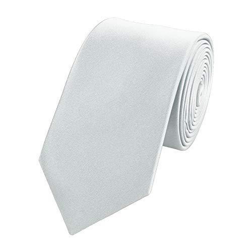 Fabio Farini - einfarbige und elegante Krawatte in verschiedenen Farben und Breiten zur Auswahl Silbergrau 8cm