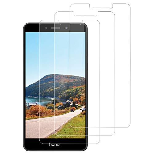 DOSNTO für Huawei Honor 6X Panzerglas (3 Stück), Anti-Bläschen Anti-Öl Anti-Kratzen Hülle Fre&llich Transparenz Gehärtetem Glas Bildschirmfolie Schutzfolie für Huawei Honor 6X Panzerglasfolie