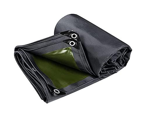 SSHA Abdeckplane Hochleistungs-Plane-Cover-Black/Green-Multifunktionstarps für das Campingzelt Camping Camping Plane wasserdicht (Color : Black, Size : 3.8×3.8m)